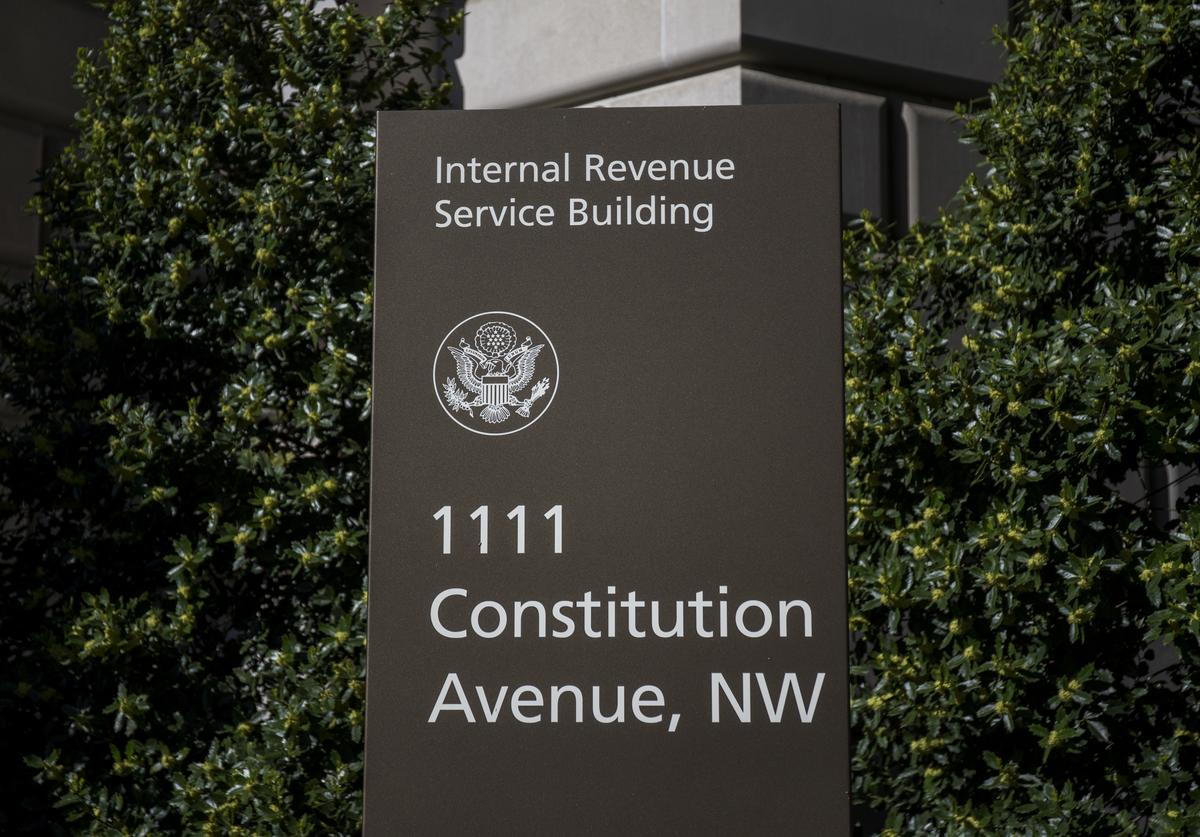 The Internal Revenue Service (IRS) building stands on April 15, 2019 in Washington, DC. April 15 is the deadline in the United States for residents to file their income tax returns.