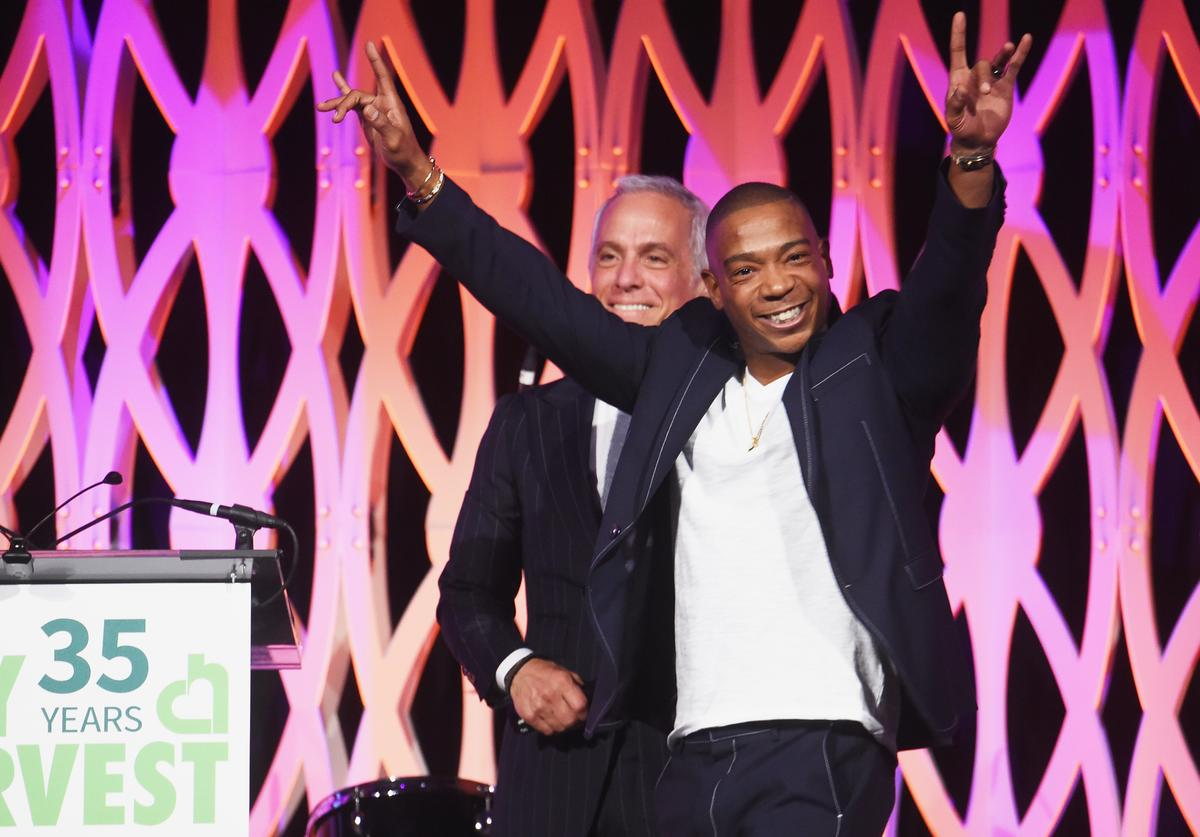 Geoffrey Zakarian (L) and Ja Rule speak onstage during City Harvest's 35th Anniversary Gala at Cipriani 42nd Street on April 24, 2018 in New York City.