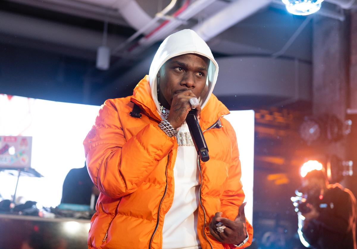DaBaby performs at the Hennessy All-Star Saturday Night with Nas, A$AP Ferg, & Da Baby at The Old Post Office on February 15, 2020 in Chicago, Illinois.