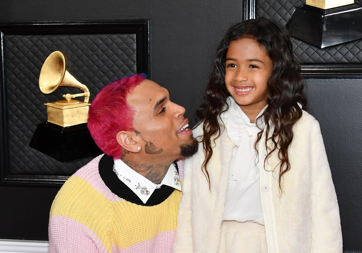 chris brown royalty aeko Catori ammika harris baby mama kids children father dad baby family proud