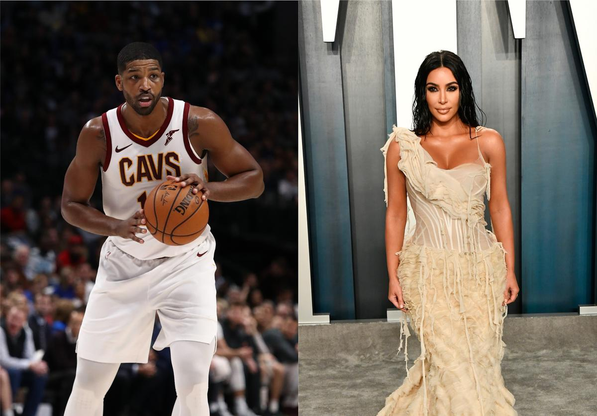 tristan thompson kim kardashian mother's day early present gift flowers bouquet surprise