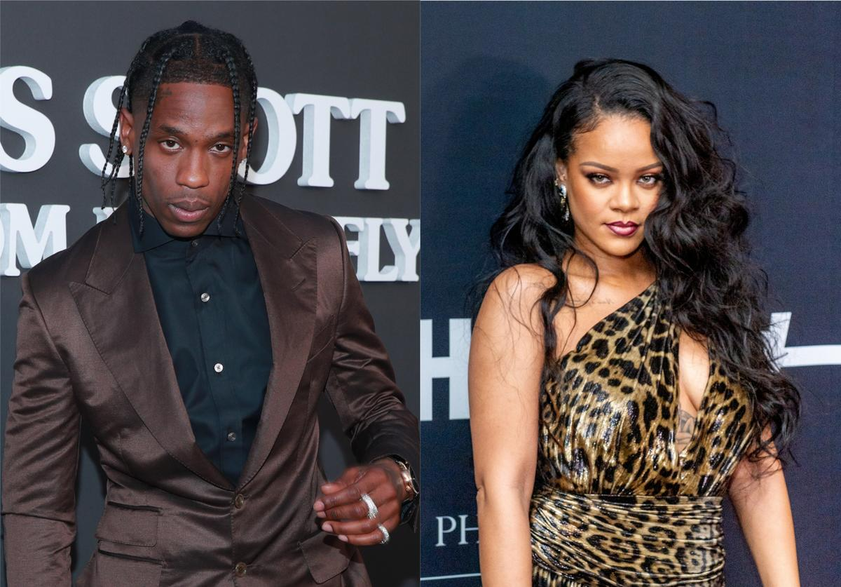 travis scott rihanna fling dating secret pissed reaction mad public
