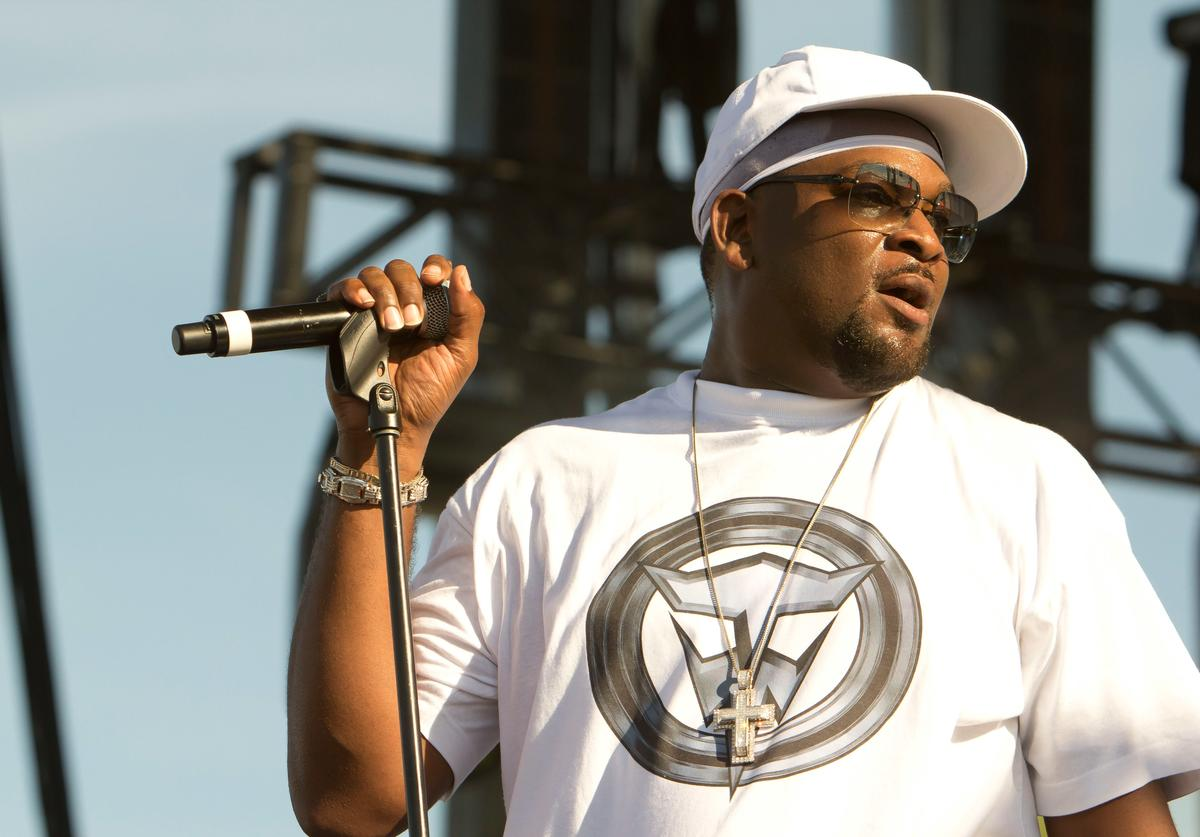 Detroit rapper, Trick Trick performs during the Motors and Music Experience in the parking lot of the Silverdome on August 18, 2012 in Pontiac, Michigan.