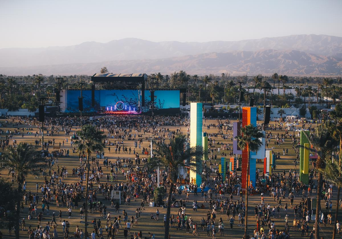 Festivalgoers are seen during the 2019 Coachella Valley Music And Arts Festival on April 21, 2019 in Indio, California.