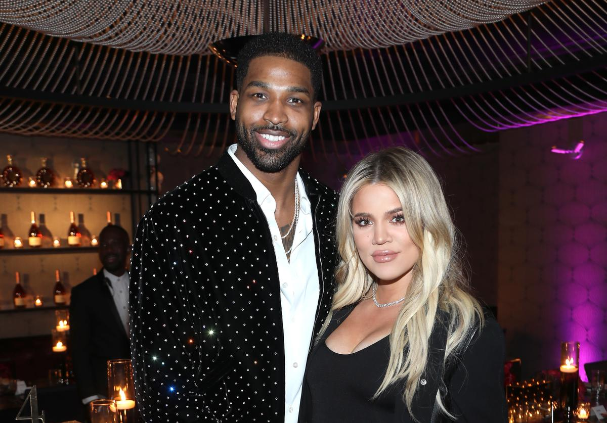 khloe kardashian tristan thompson birthday party cozy cuddle close true