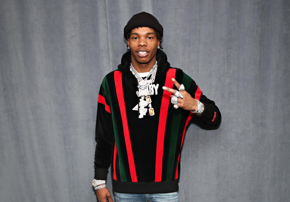 Rapper Lil Baby visits the SiriusXM Studios on March 06, 2020 in New York City.