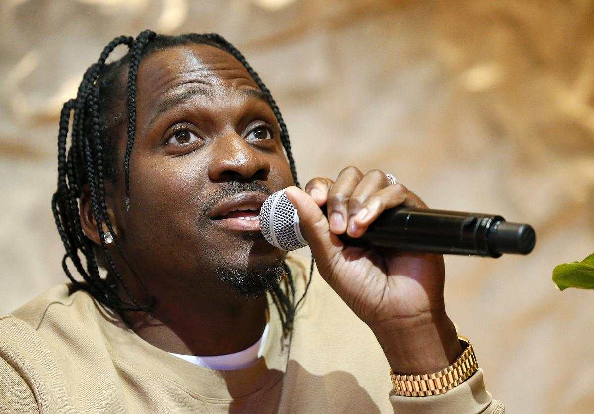 GRAMMY-nominated Artist/Executive/Entrepreneur Pusha T speaks at a panel discussion during The Recording Academy Washington DC Chapter's Intersection of Music & Sports event at the Kennedy Center on March 02, 2020 in Washington, DC.