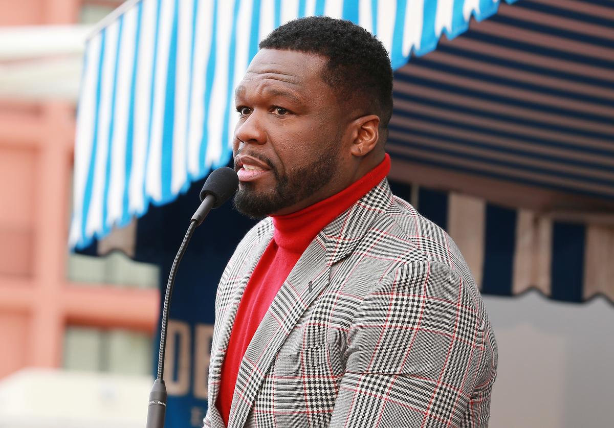 "Curtis ""50 Cent"" Jackson speaks during a ceremony honoring him with a star on the Hollywood Walk of Fame on January 30, 2020 in Hollywood, California."