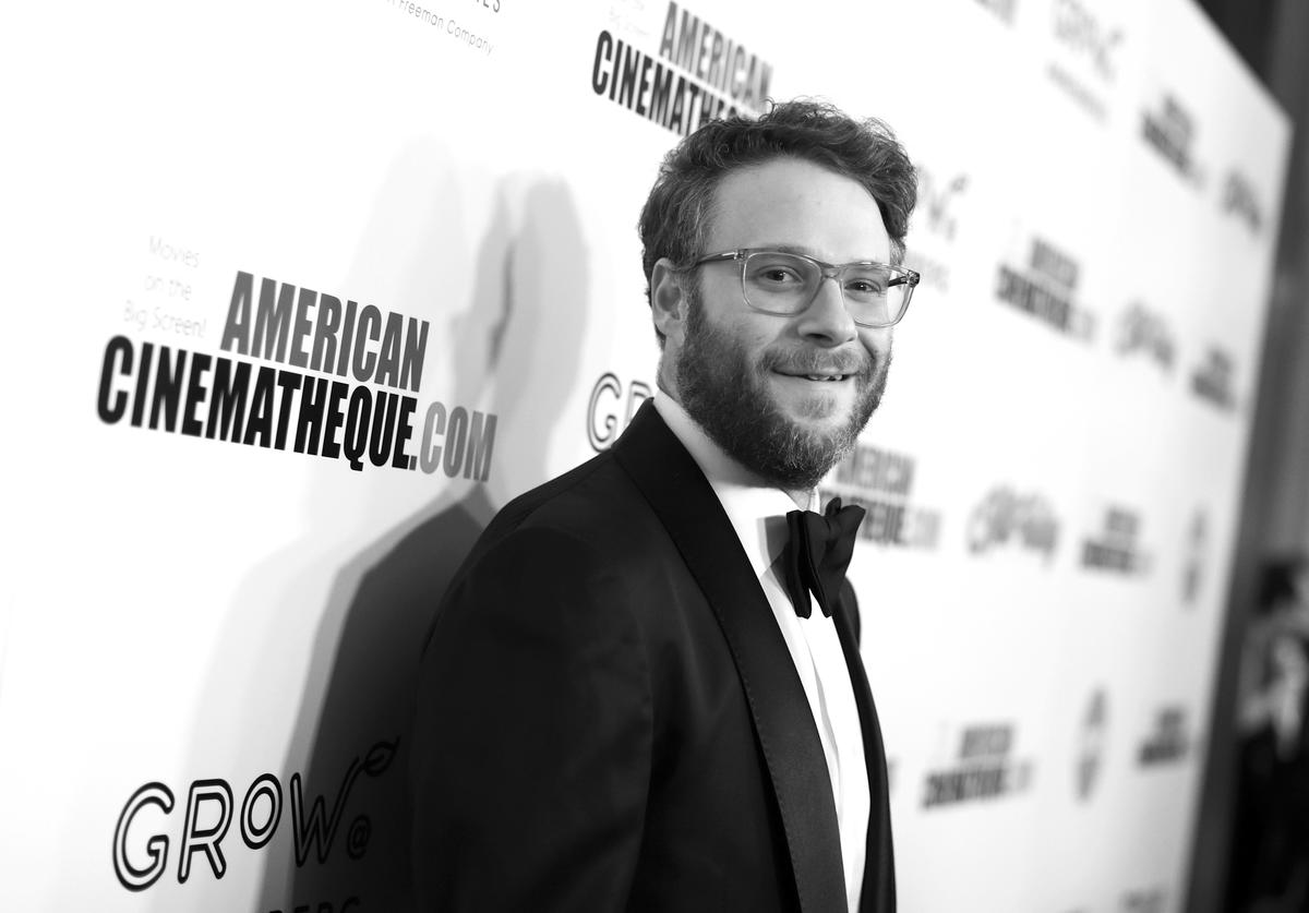 Seth Rogen attends the 33rd American Cinematheque Award Presentation Honoring Charlize Theron and The 5th Annual Sid Grauman Award Presented by Hill Valley to Adam Aron on behalf of AMC Theatres at The Beverly Hilton Hotel on November 08, 2019 in Beverly Hills, California.