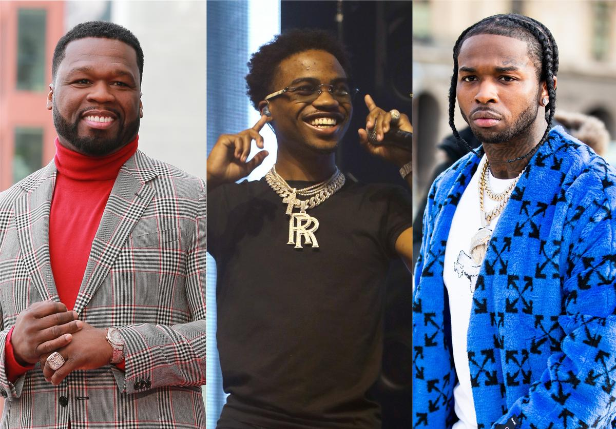 50 cent roddy ricch pop smoke the woo music video premiere birthday teaser trailer shoot for the stars aim for the moon