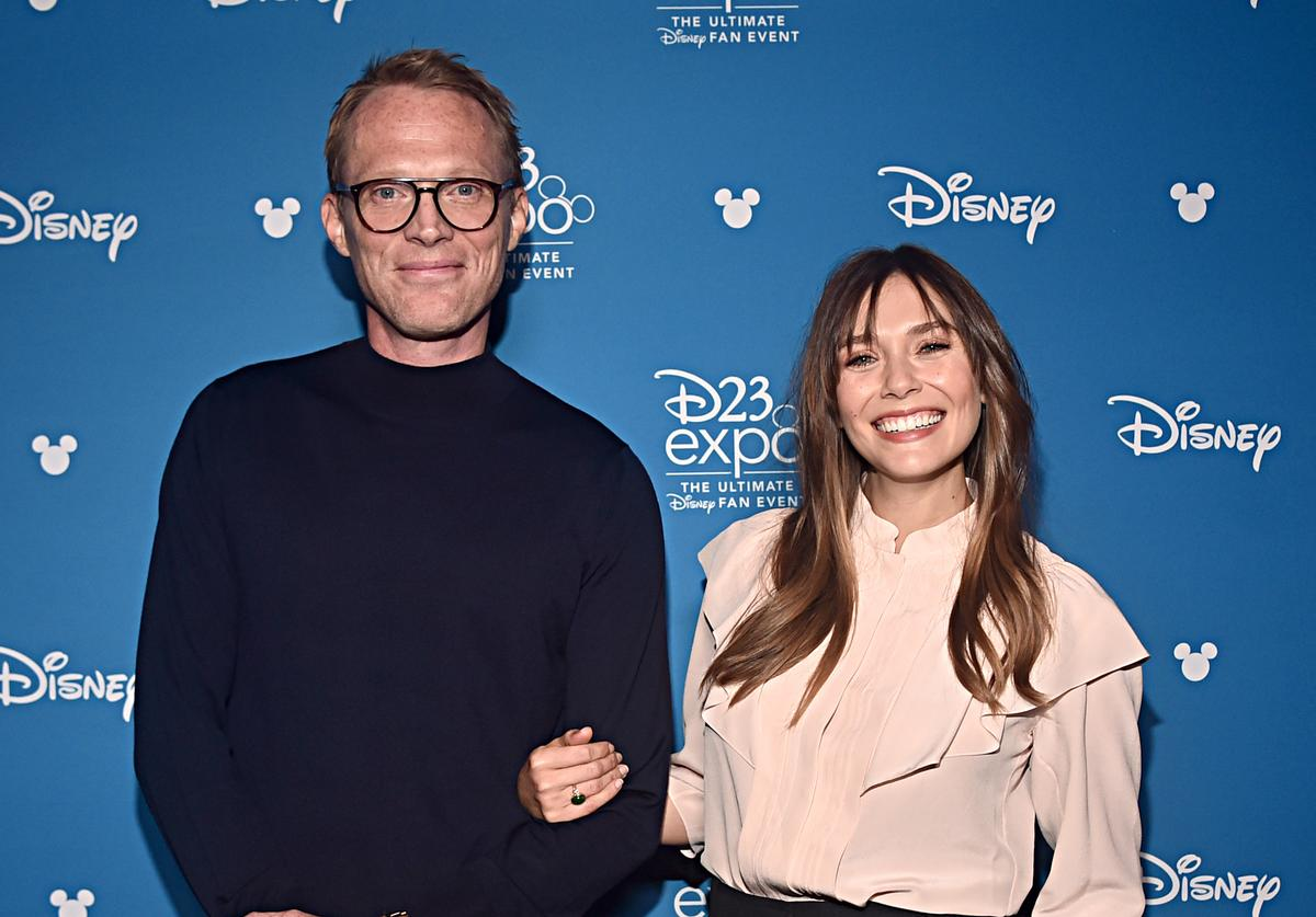 Paul Bettany and Elizabeth Olsen of 'WandaVision' took part today in the Disney+ Showcase at Disney's D23 EXPO 2019 in Anaheim, Calif. 'WandaVision' will stream exclusively on Disney+, which launches November 12.