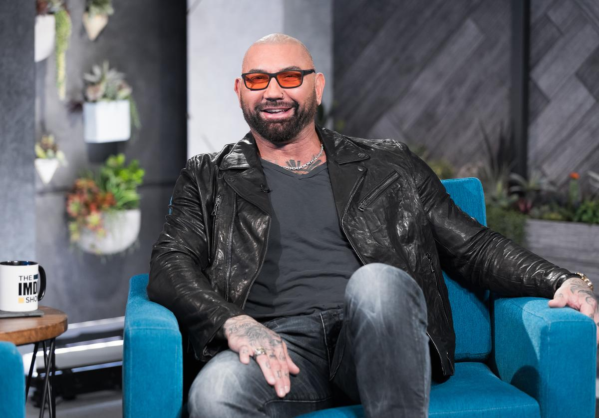 Dave Bautista visit's 'The IMDb Show' on February 21, 2020 in Santa Monica, California. This episode of 'The IMDb Show' airs on March 5, 2020.