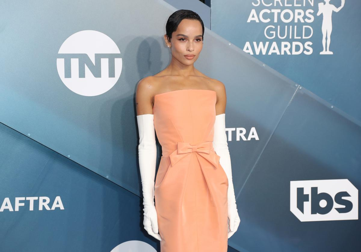 Zoë Kravitz attends 26th Annual Screen Actors Guild Awards at The Shrine Auditorium on January 19, 2020 in Los Angeles, California.