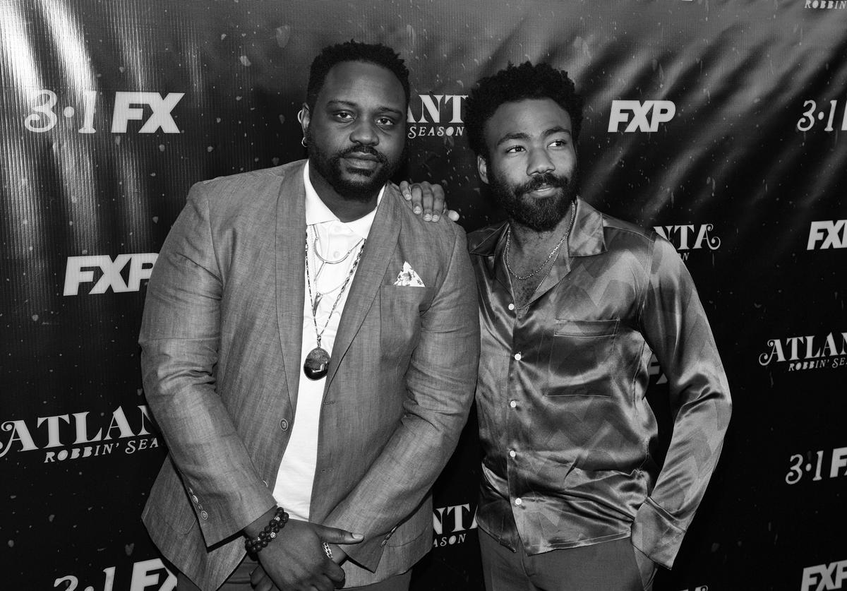 "Actor Brian Tyree Henry and actor/recording artist Donald Glover attend ""Atlanta Robbin' Season"" Atlanta Premiere"