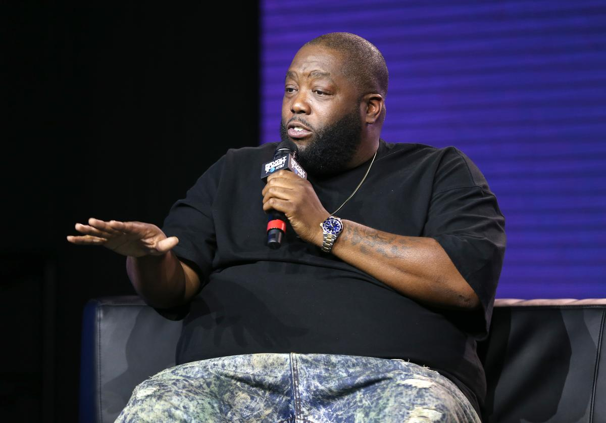 Killer Mike speaks onstage at the REVOLT X AT&T 3-Day Summit