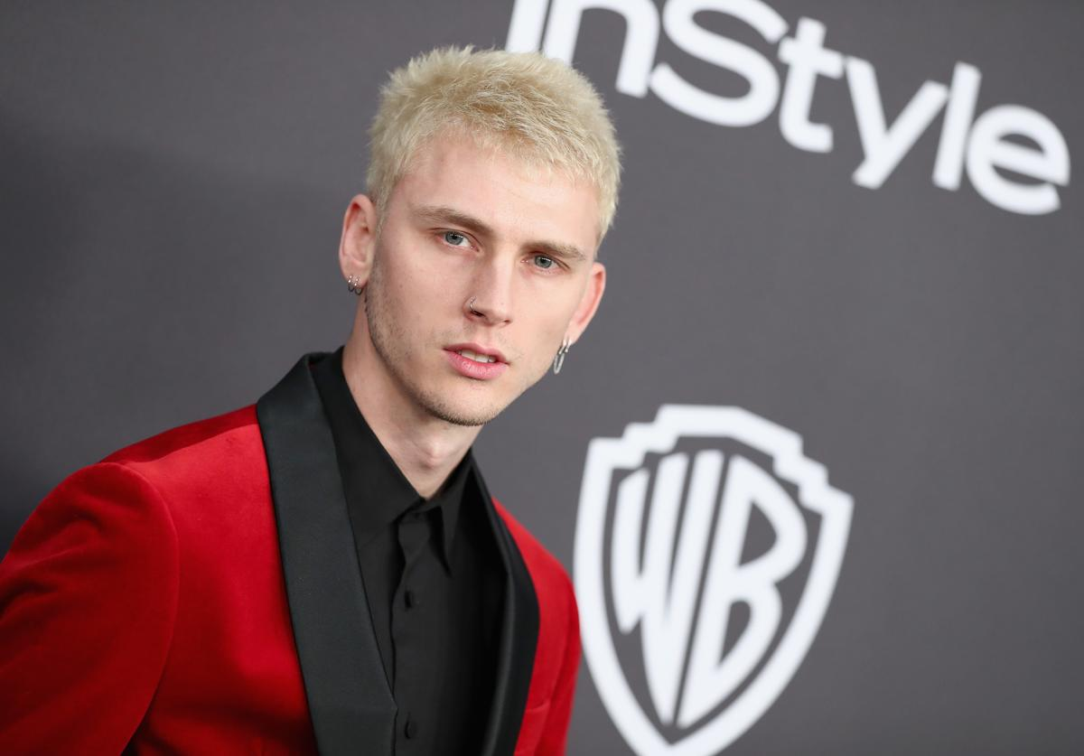 Machine Gun Kelly at the Golden Globes after party