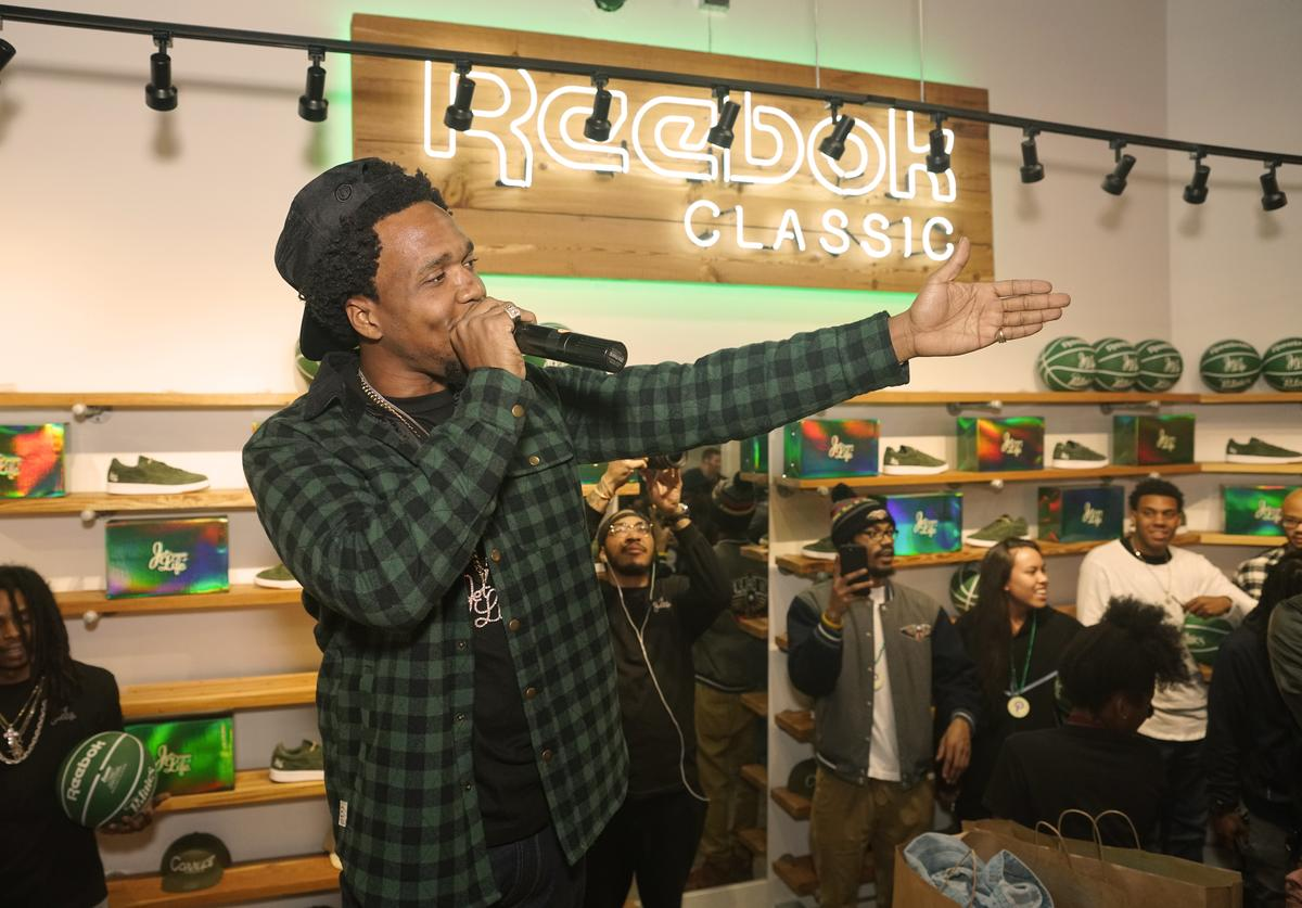 Curren$y at Reebok event for Jet Life
