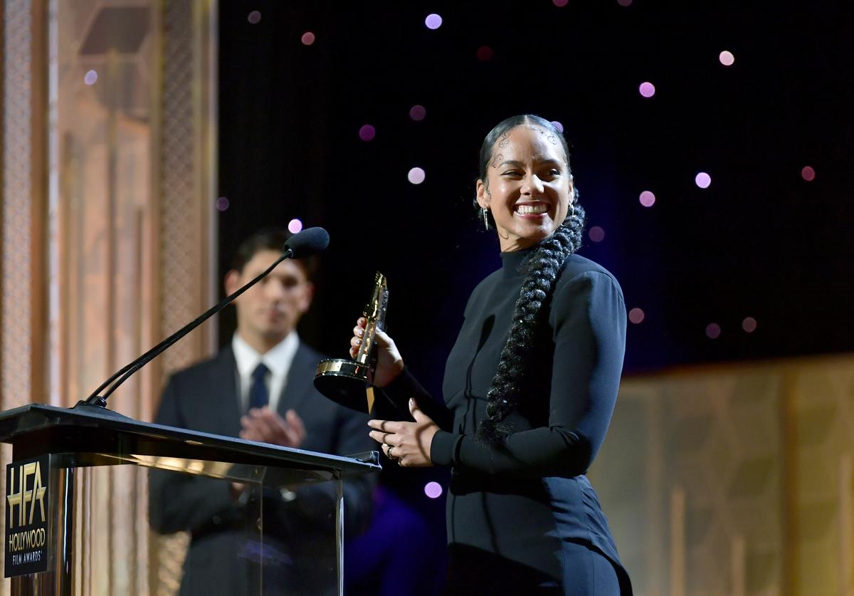 Alicia Keys at the Hollywood Film Awards