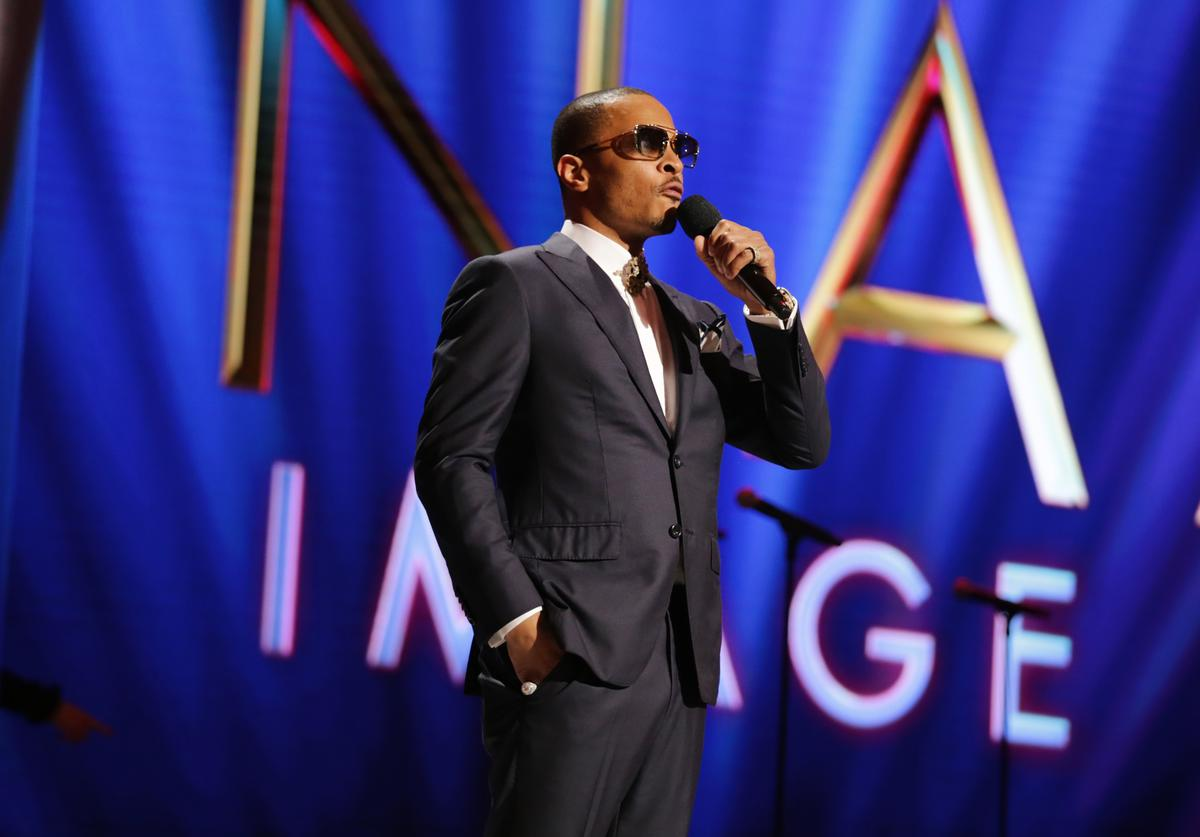 T.I. speaks at the NAACP Image Awards