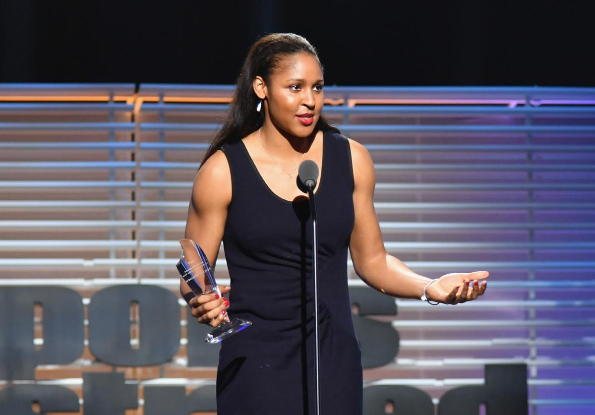 Maya Moore at Sports Illustrated's Sportsperson of the Year Show