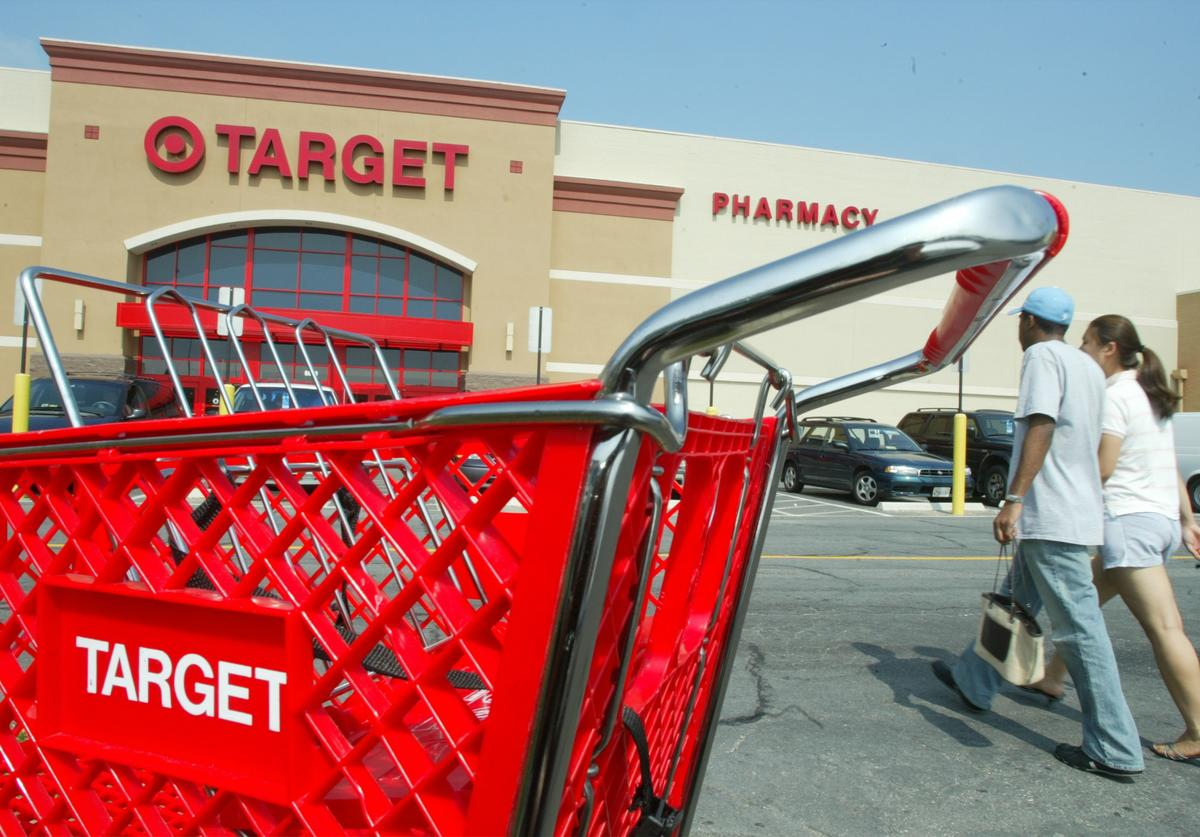 Anti-Maskers March in Target