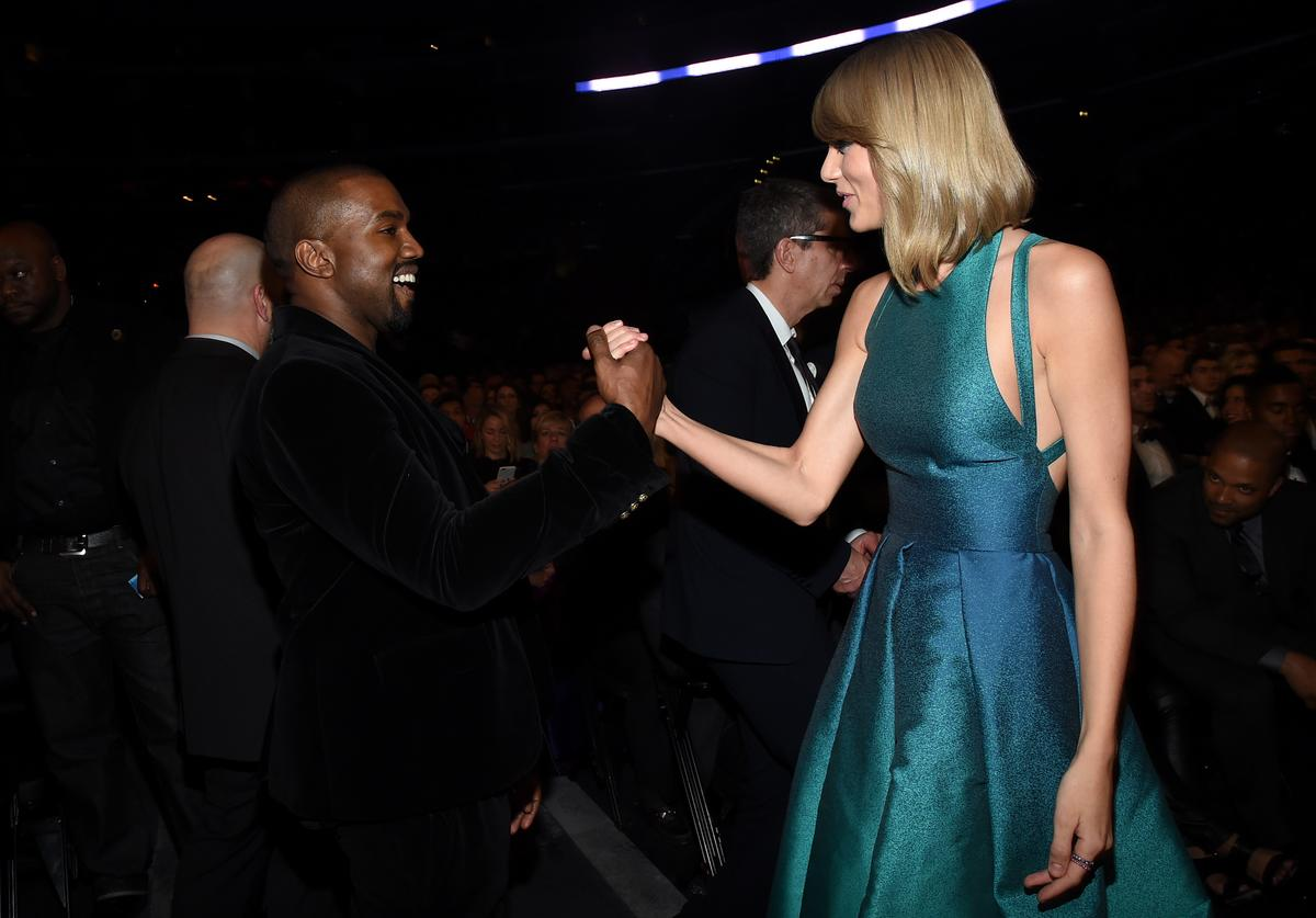 Kanye West & Taylor Swift at the Grammys