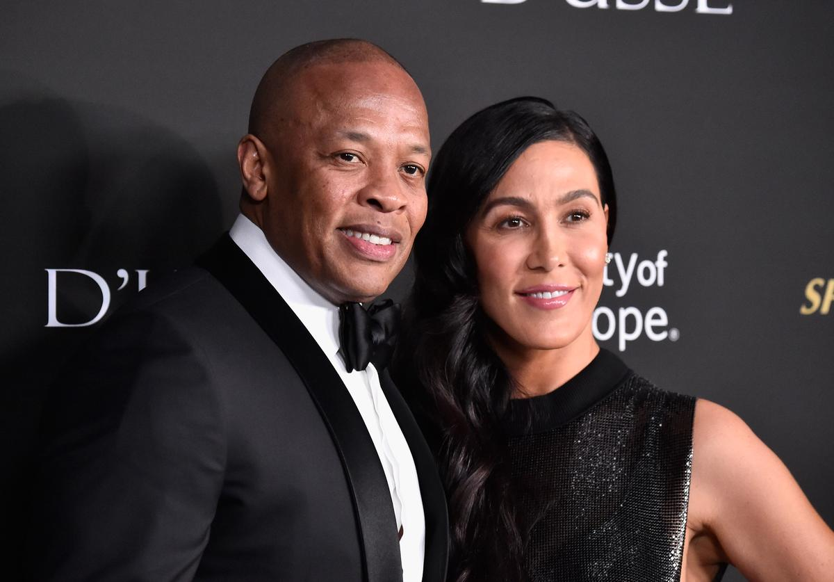 Dr. Dre & Nicole Young at the Spirit of Life 2018 Gala