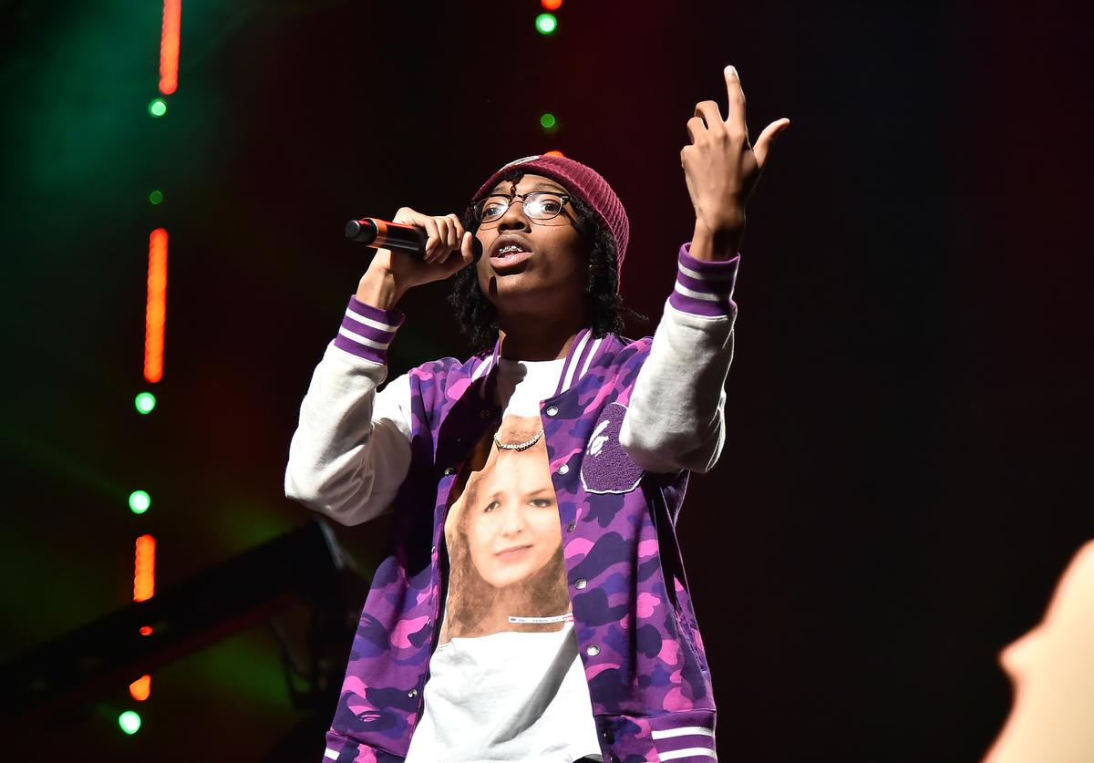 Lil Tecca performs during the TIDAL's 5th Annual TIDAL X Benefit Concert TIDAL X Rock The Vote At Barclays Center - Show at Barclays Center of Brooklyn on October 21, 2019 in New York City.