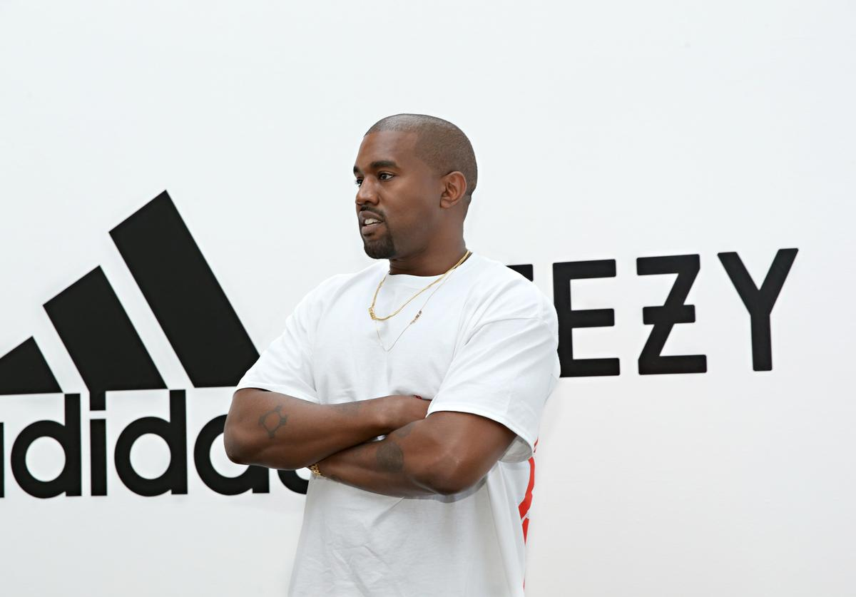 Kanye West at Adidas x Yeezy event