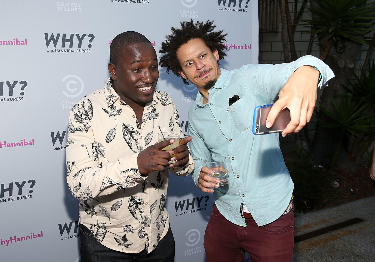 "Eric Andre & Hannibal Buress at the premiere of Comedy Central's ""Why"""