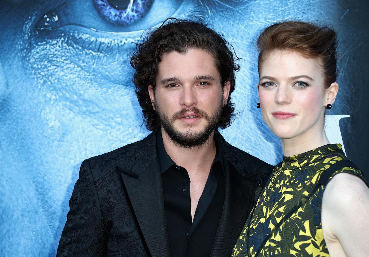 Kit Harington, Rose Leslie, Pregant