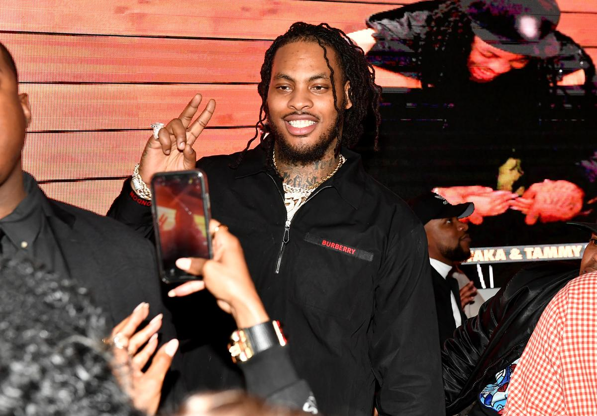 Waka Flocka at a premiere for his show What the Flocka