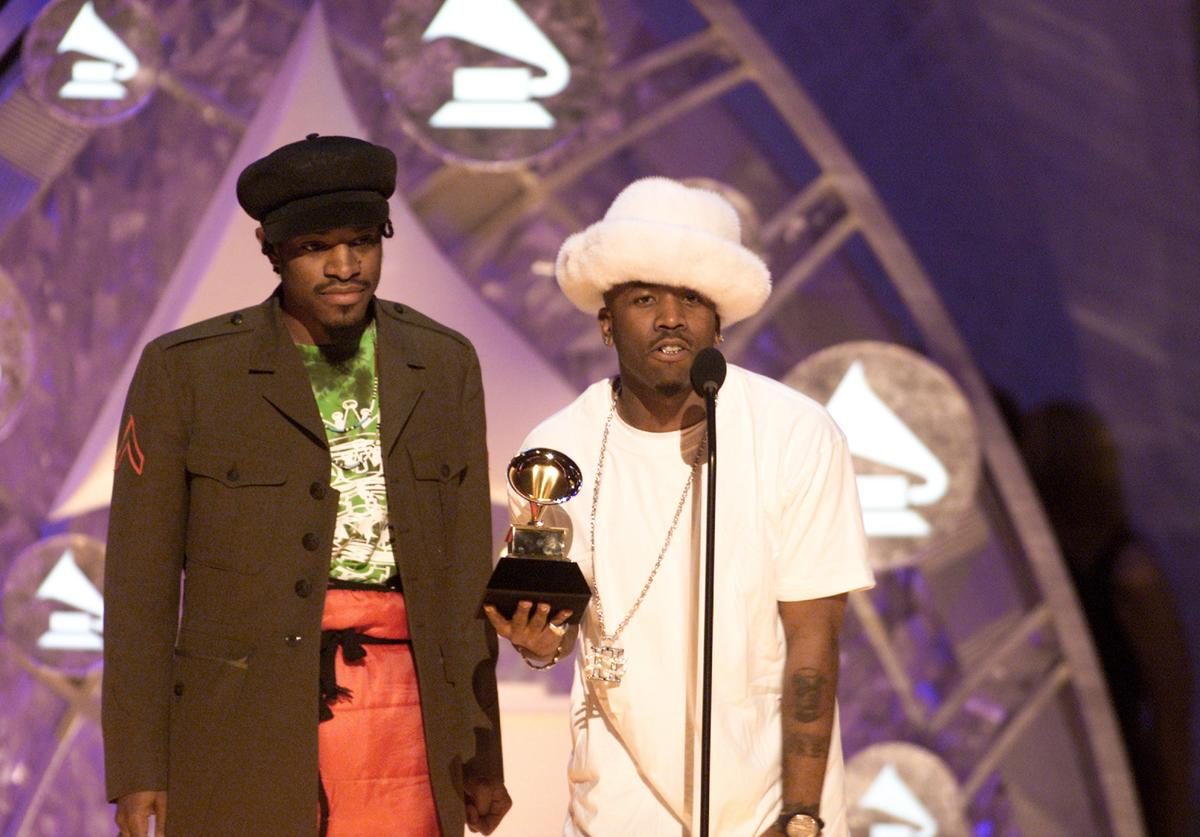 Winner for the Best Comtemporary Best Rap Performance by a Duo or Group, Outkast at the 44th Annual Grammy Awards at the Staples Center in Los Angeles, CA.