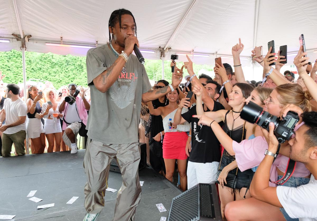 Travis Scott performs in the Hamptons