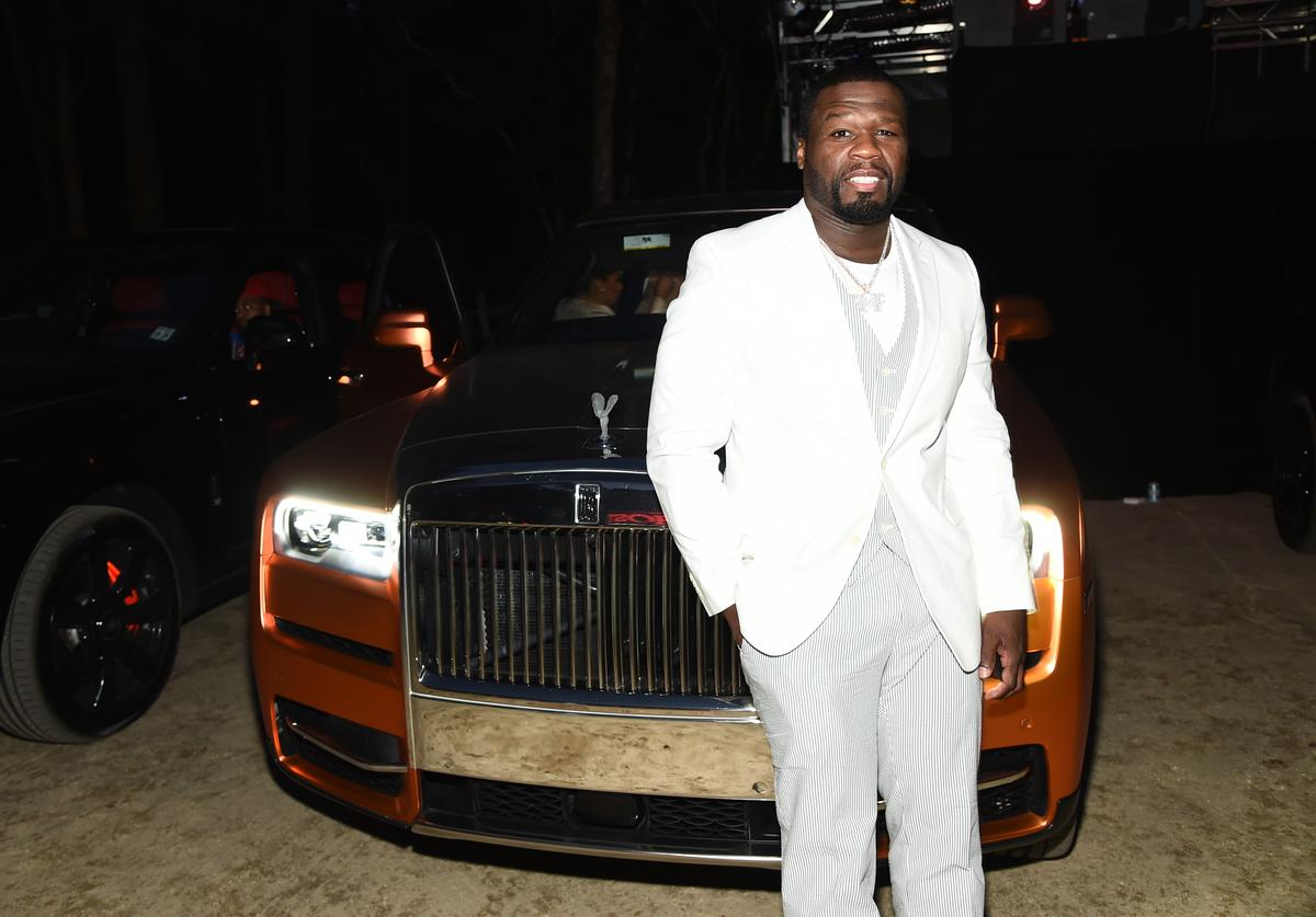 50 Cent at a premiere in the Hamptons