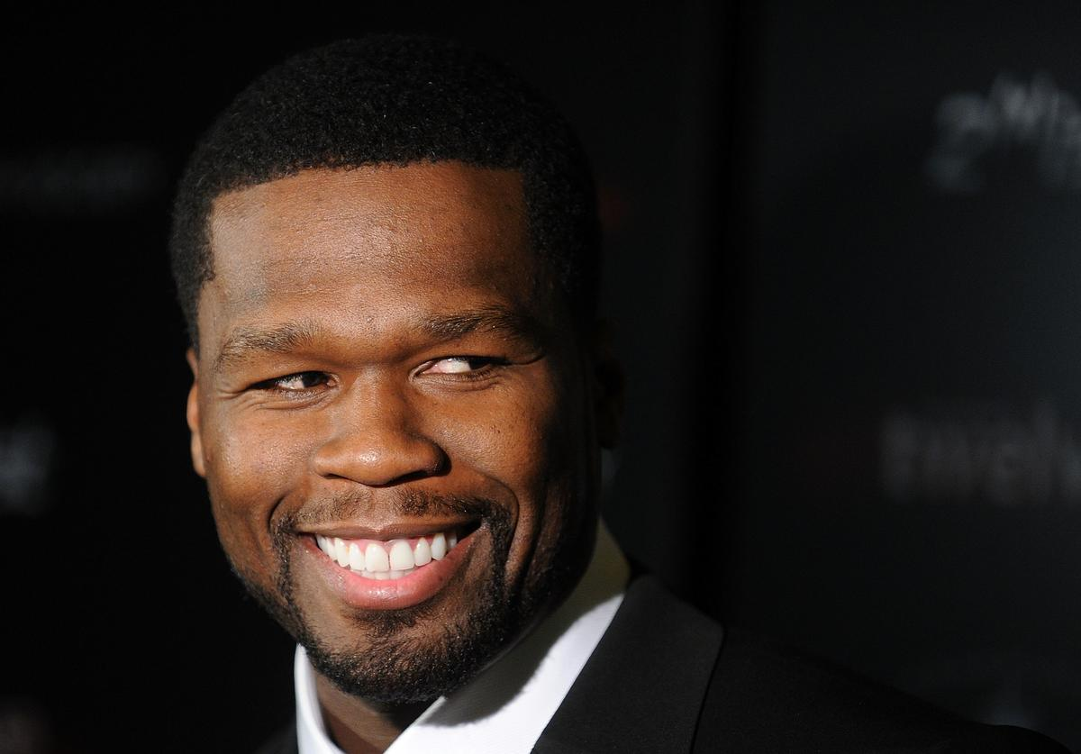 "Actor/rapper Curtis Jackson aka 50 Cent attends the Cinema Society & 2(x)ist screening of ""Twelve"" at Landmark's Sunshine Cinema on July 28, 2010 in New York City."