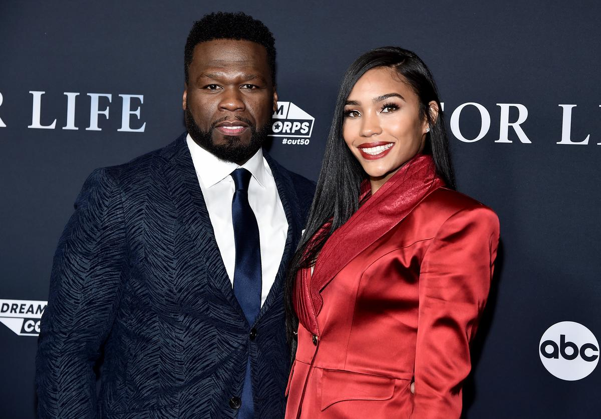 "Curtis ""50 Cent"" Jackson and Jamira Haines attend the New York premiere of ABC's ""For Life"" at Alice Tully Hall, Lincoln Center on February 05, 2020 in New York City."