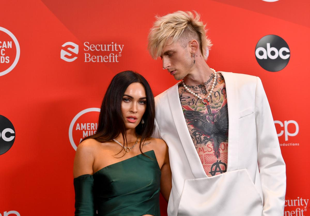 Megan Fox and Machine Gun Kelly attend the 2020 American Music Awards at Microsoft Theater