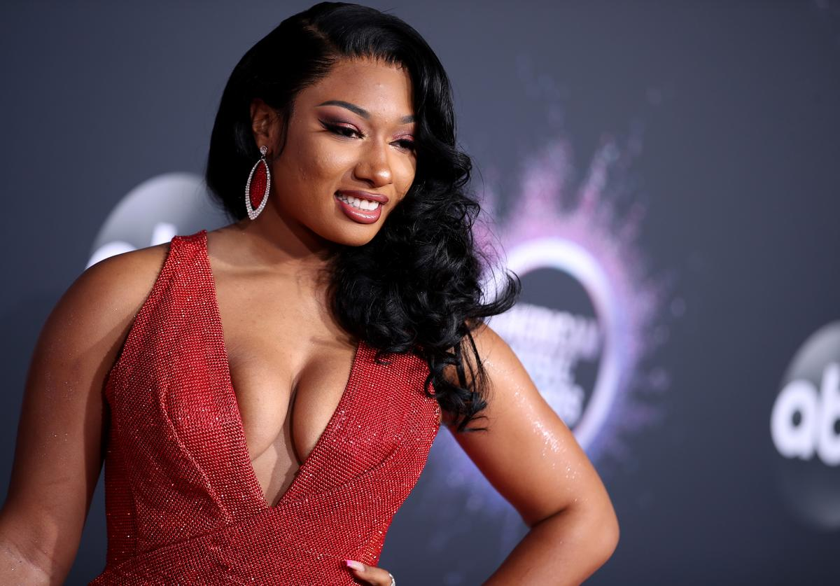 Megan Thee Stallion attends the 2019 American Music Awards at Microsoft Theater