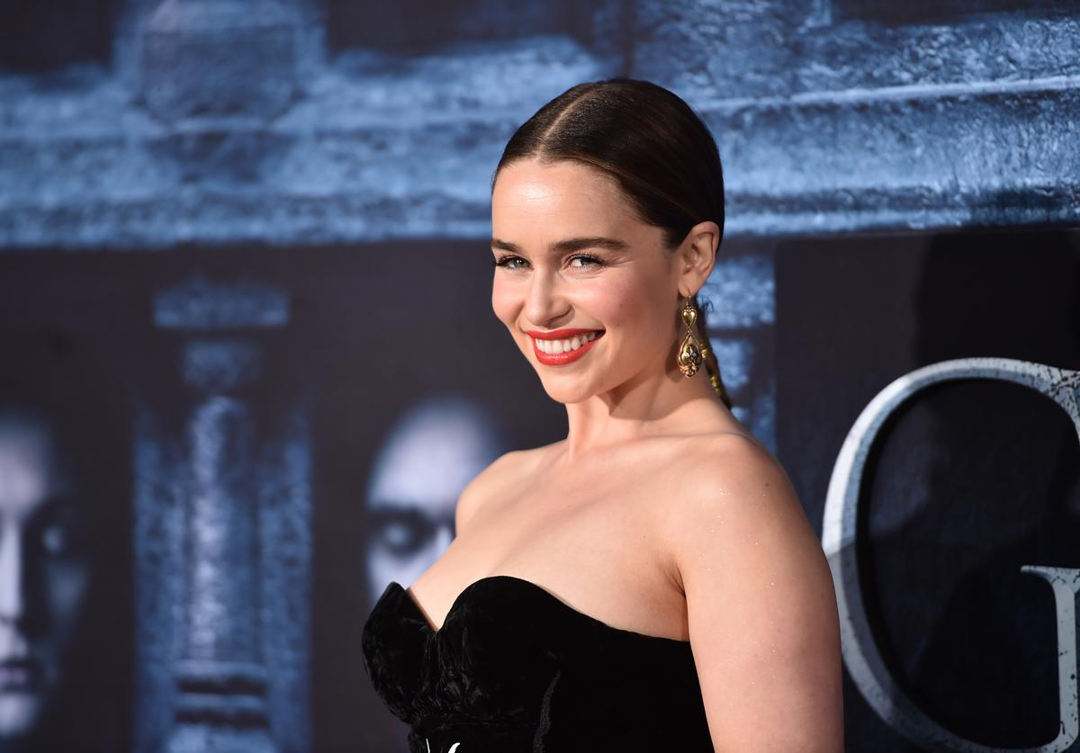 """Emilia Clarke attends the premiere of HBO's """"Game Of Thrones"""" Season 6"""