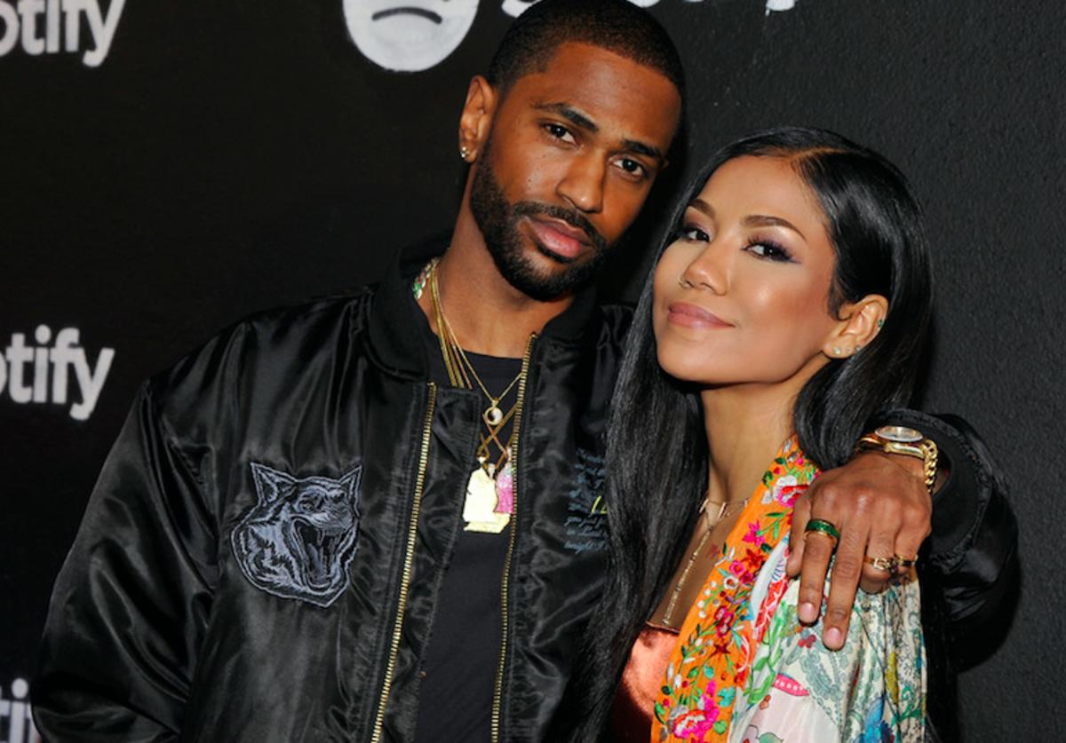 Rapper Big Sean and singer Jhene Aiko attend the Spotify Best New Artist Nominees celebration