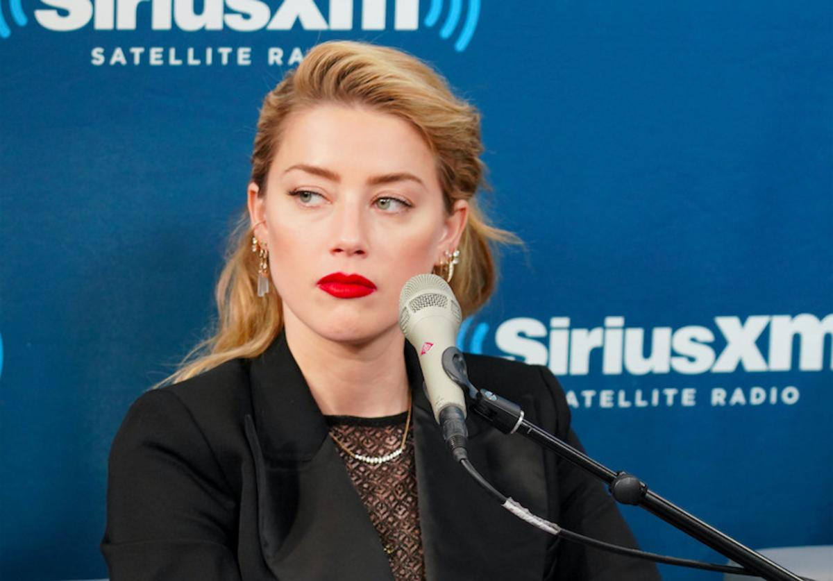 Amber Heard attends SiriusXM's Town Hall With The Cast Of 'Aquaman'