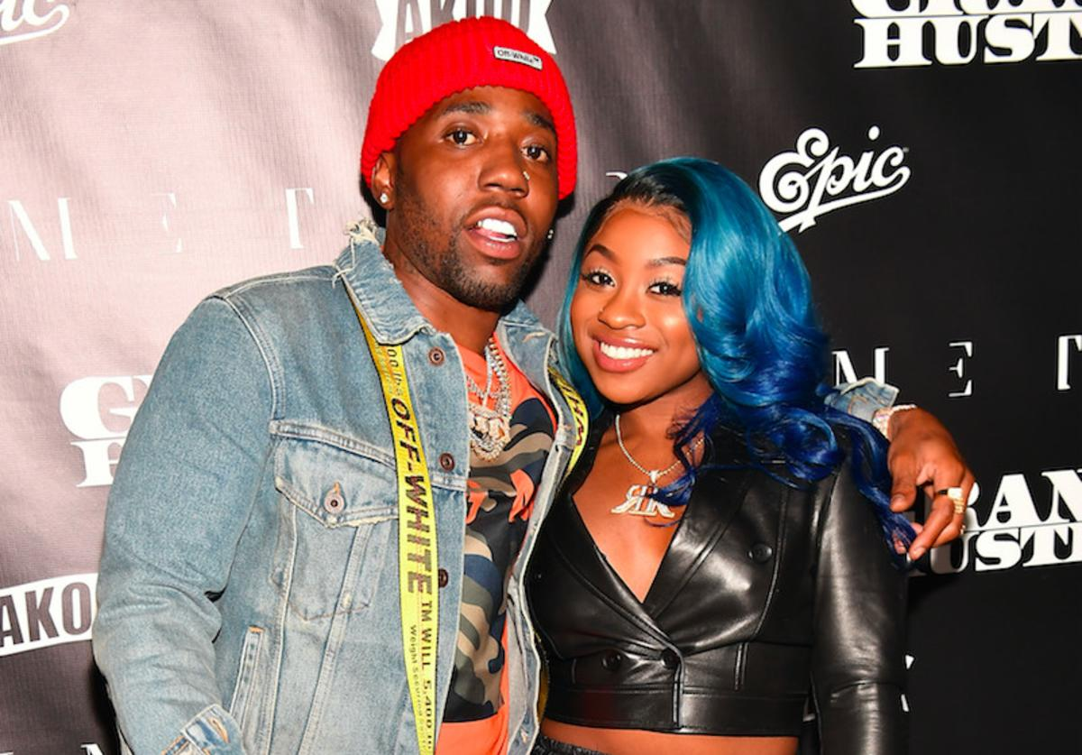 "YFN Lucci and Reginae Carter attend T.I.'s ""Dime Trap"" Private Album Release Party"