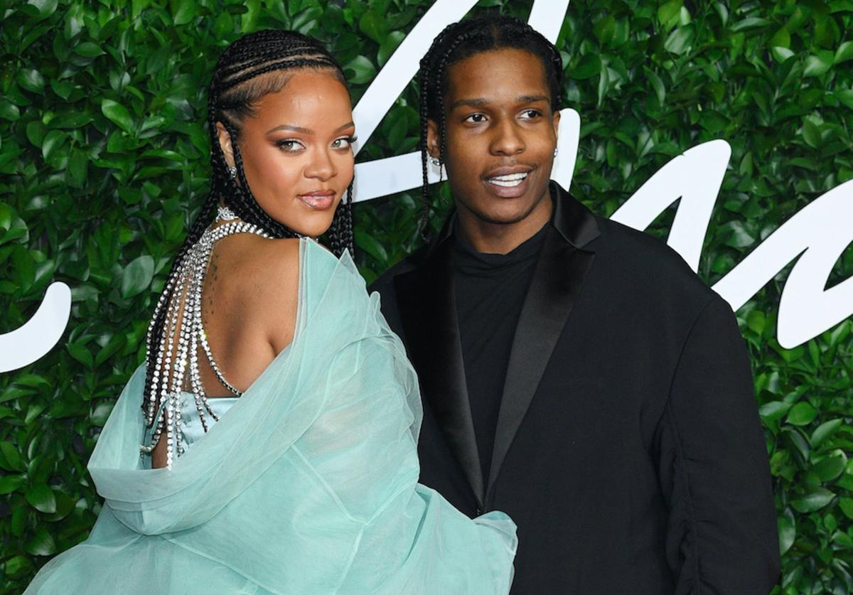 Rihanna and A$AP Rocky arrive at The Fashion Awards