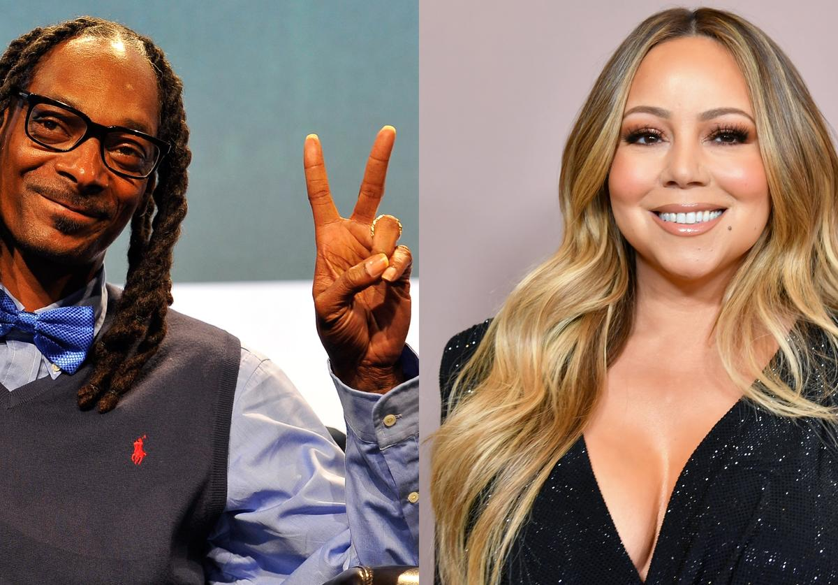 Snoop Dogg speaks onstage during day one of TechCrunch Disrupt SF 2015, Mariah Carey attends Variety's 2019 Power of Women