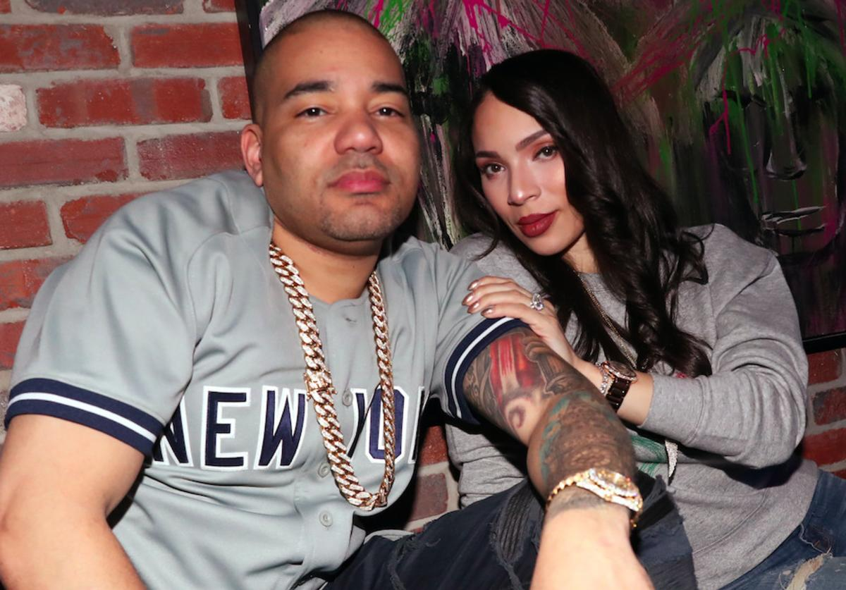 DJ Envy and Gia Casey attend the New York Yankees Opening Day Post-Game Party