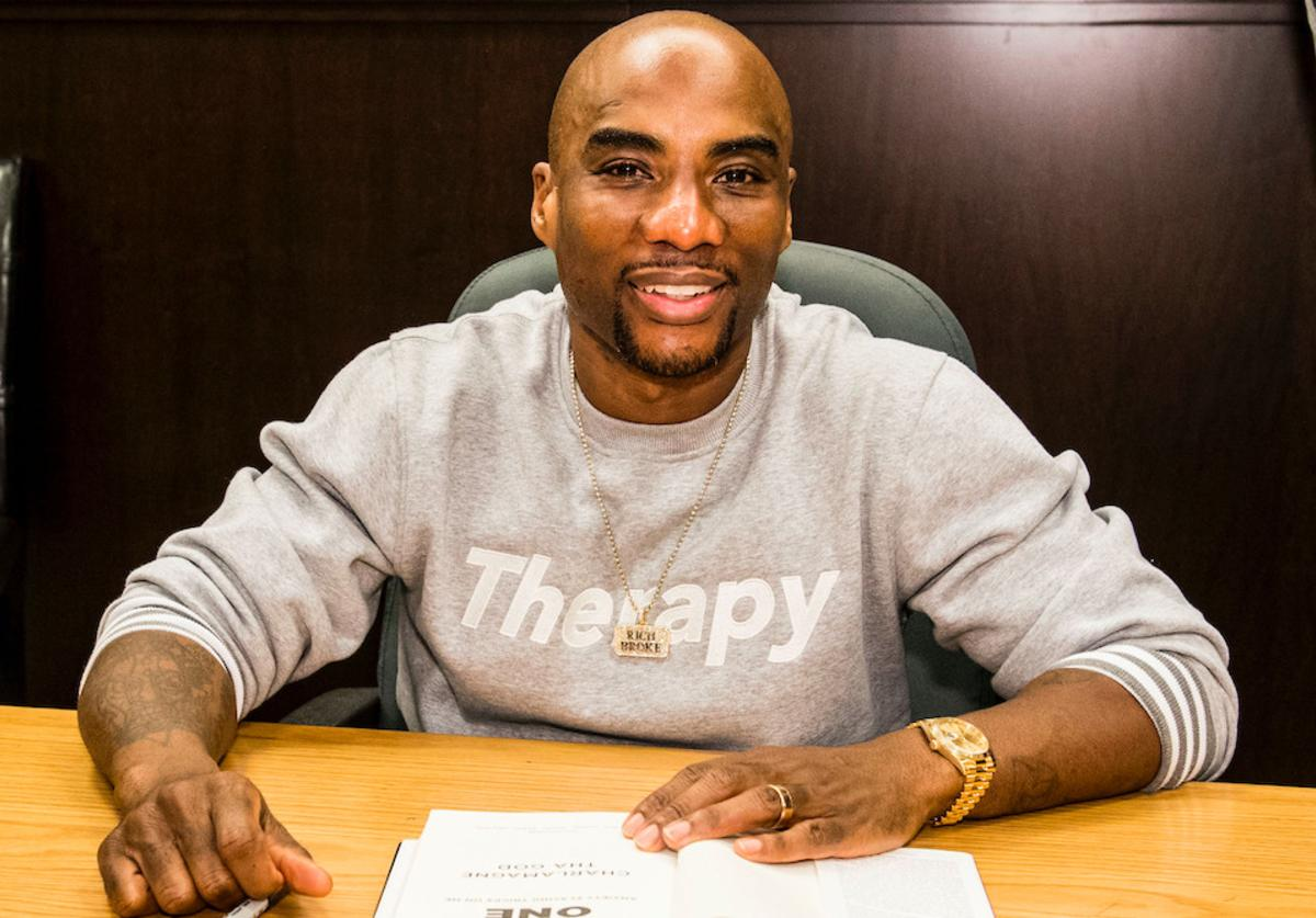 Charlamagne Tha God attends a discussion and signing of his new book