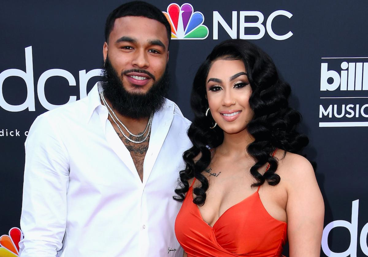 Clarence White and Queen Naija attend the 2019 Billboard Music Awards