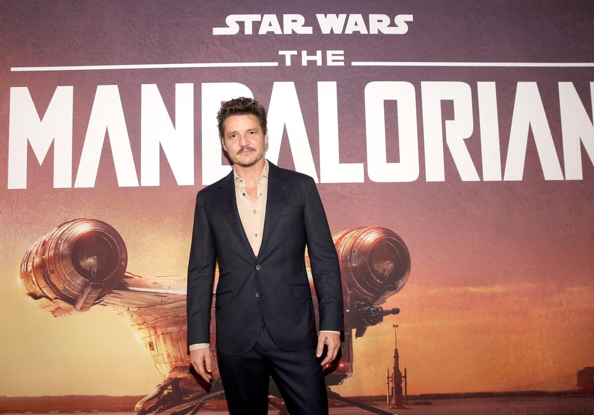 """Pedro Pascal arrives at the premiere of Lucasfilm's first-ever, live-action series, """"The Mandalorian,"""" at the El Capitan Theatre in Hollywood, Calif. on November 13, 2019. """"The Mandalorian"""" streams exclusively on Disney+"""