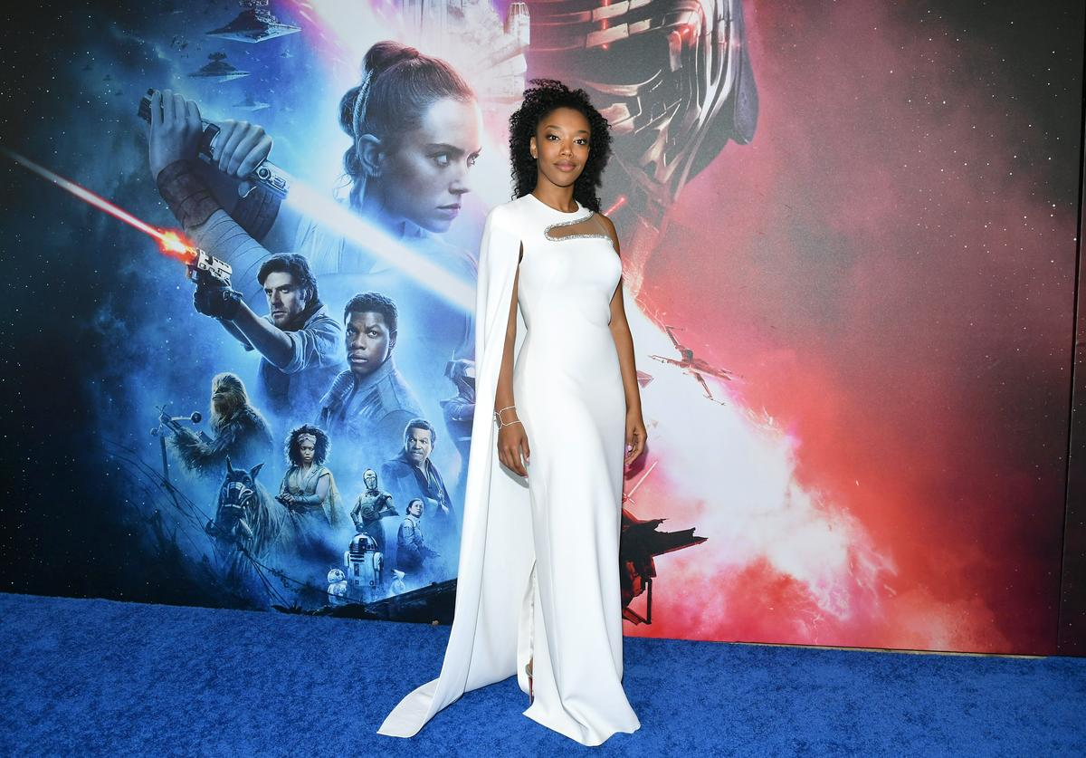 "Naomi Ackie arrives for the World Premiere of ""Star Wars: The Rise of Skywalker"", the highly anticipated conclusion of the Skywalker saga on December 16, 2019 in Hollywood, California."